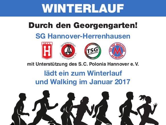 Winterlauf, wieder im Schnee, wie Anfang 2017?