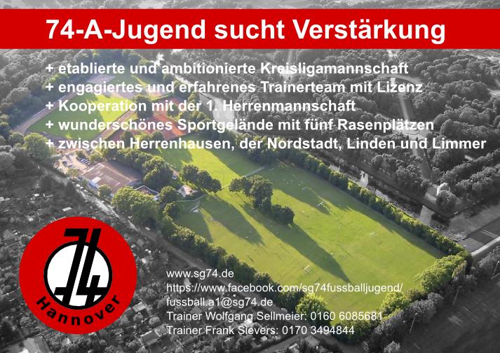 Poster zur Akquise neuer A-Jugend-Spieler